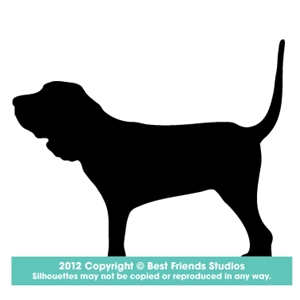 300x300 Bloodhound Dog Silhouette Gifts, Stationery, Address Labels Amp Note