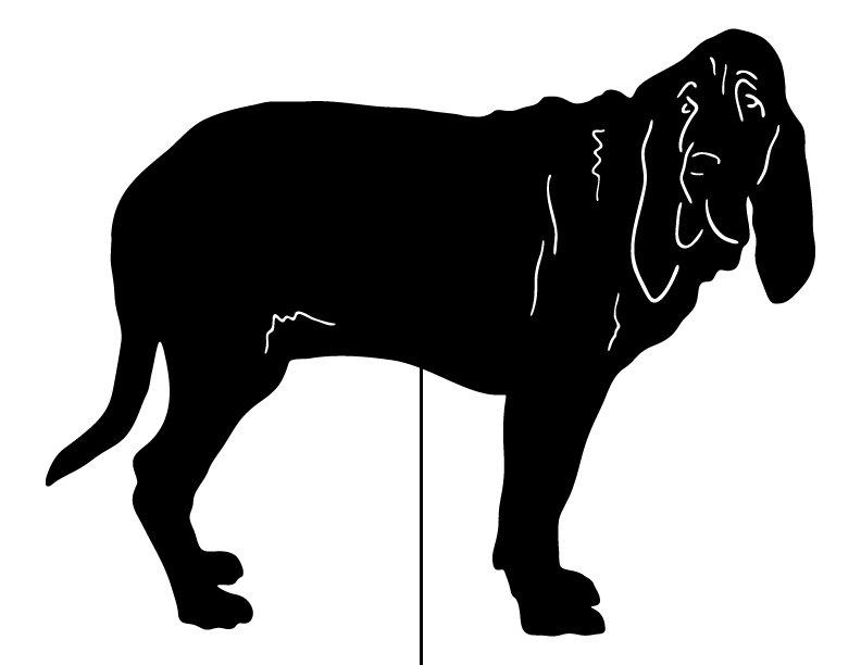 792x612 Bloodhound Garden Stake Or Wall Hanging Garden Art Pet