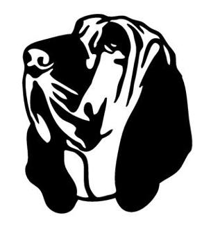304x330 Bloodhound Head Decal Sticker