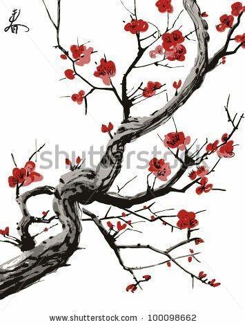Blossom Tree Silhouette