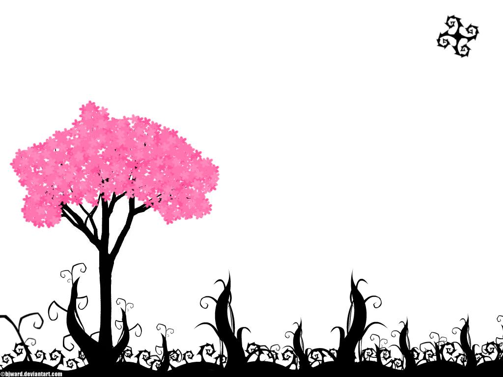 1024x768 Cherry Blossom Tree By Bjward