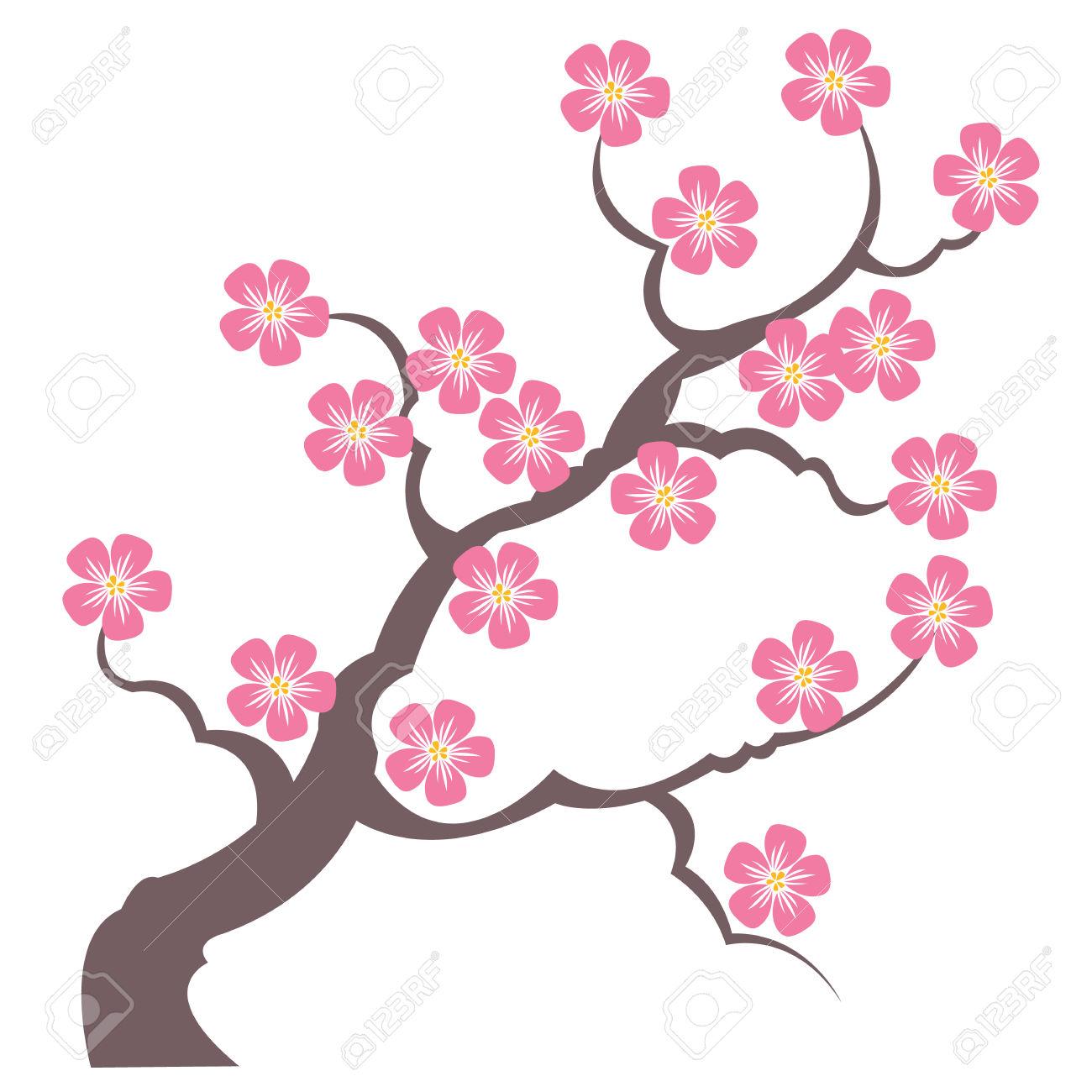 1300x1300 Drawn Sakura Blossom Silhouette