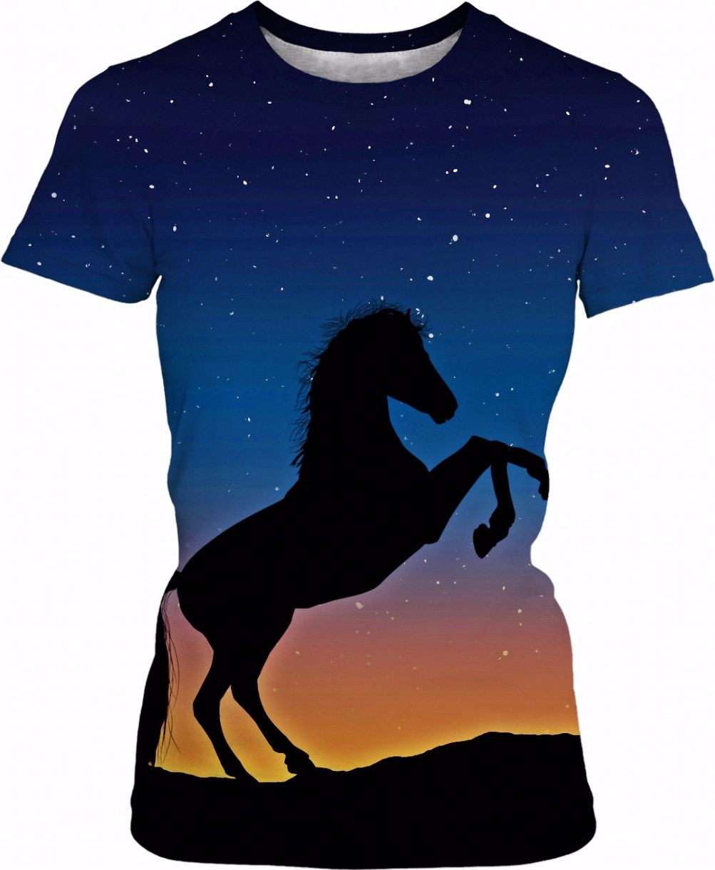 1003x1220 Rearing Horse Silhouette Against Stars I Silhouettes And Animal