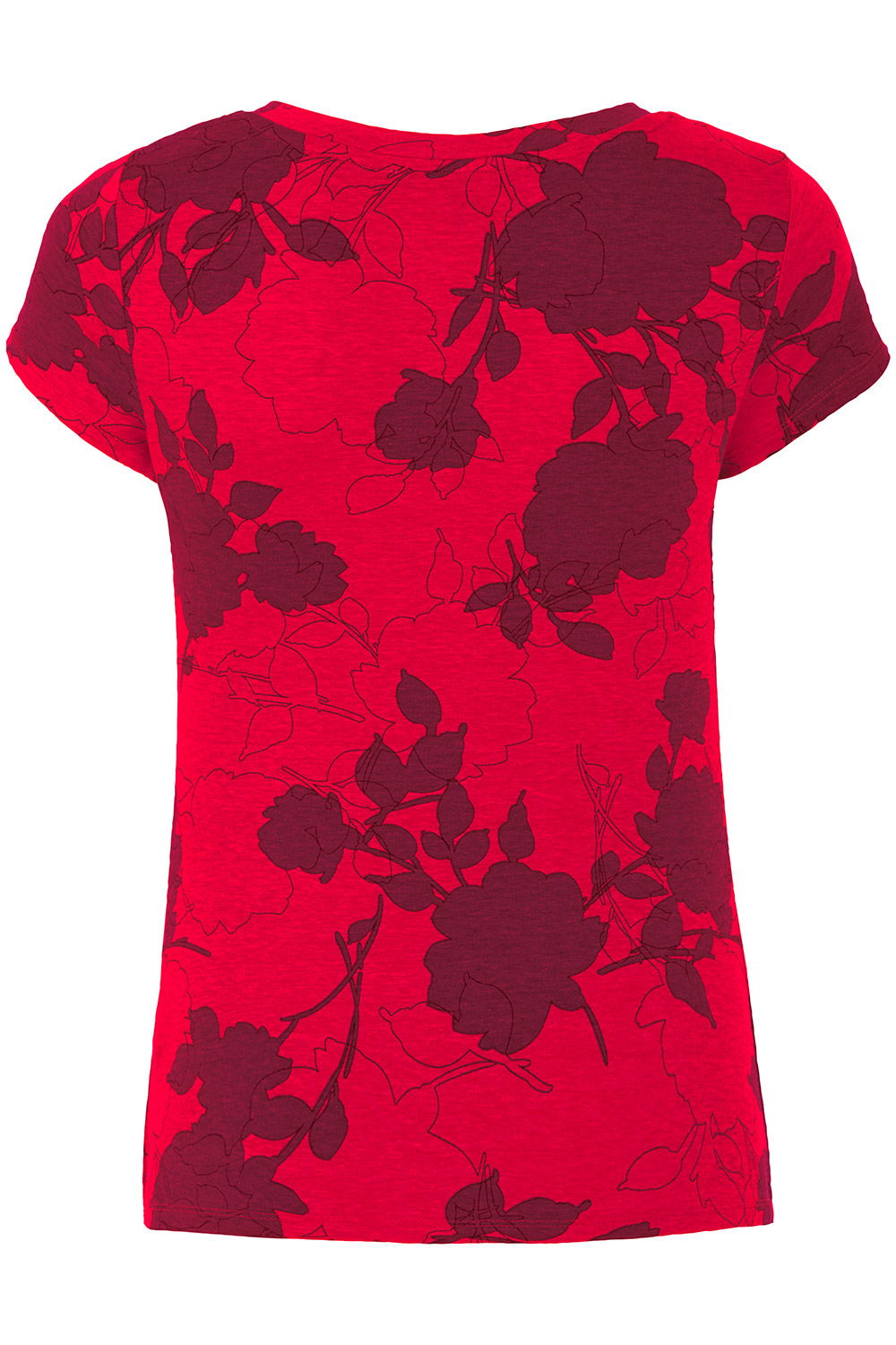 1000x1500 Rose Print V Neck Top