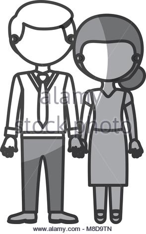 294x470 Couple Monochrome Silhouette And Him With Suit And Tie And Pants