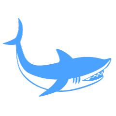 240x240 Free Blue Silhouette Fish Cartoon Amp Clipart Amp Graphics