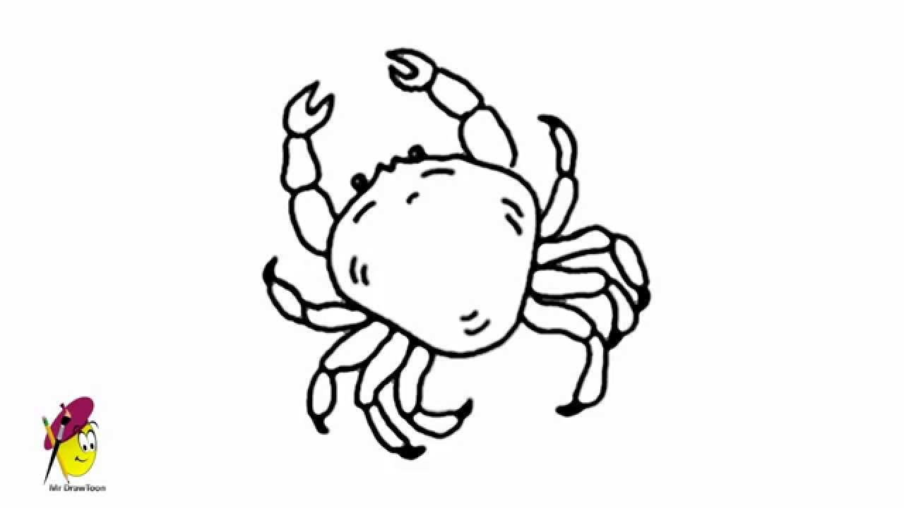 1280x720 Impressive Drawings Of Crabs Hermit Crab Printable Coloring Pages