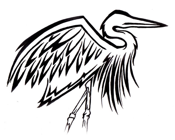 600x480 Great Blue Heron Clipart Tribal