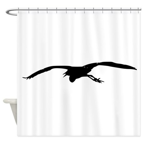 460x460 Blue Heron Shower Curtains