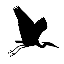 270x270 Blue Heron Silhouette Stencil Free Stencil Gallery