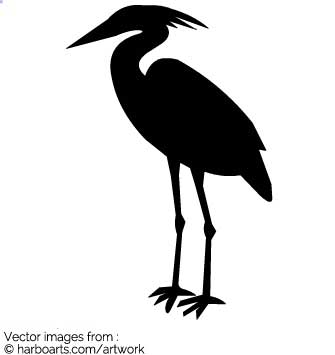 335x355 Download Heron Silhouette