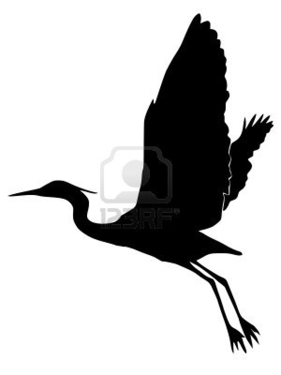 900x1200 Heron Black Silhouette Silhouettes For Scrapbooking