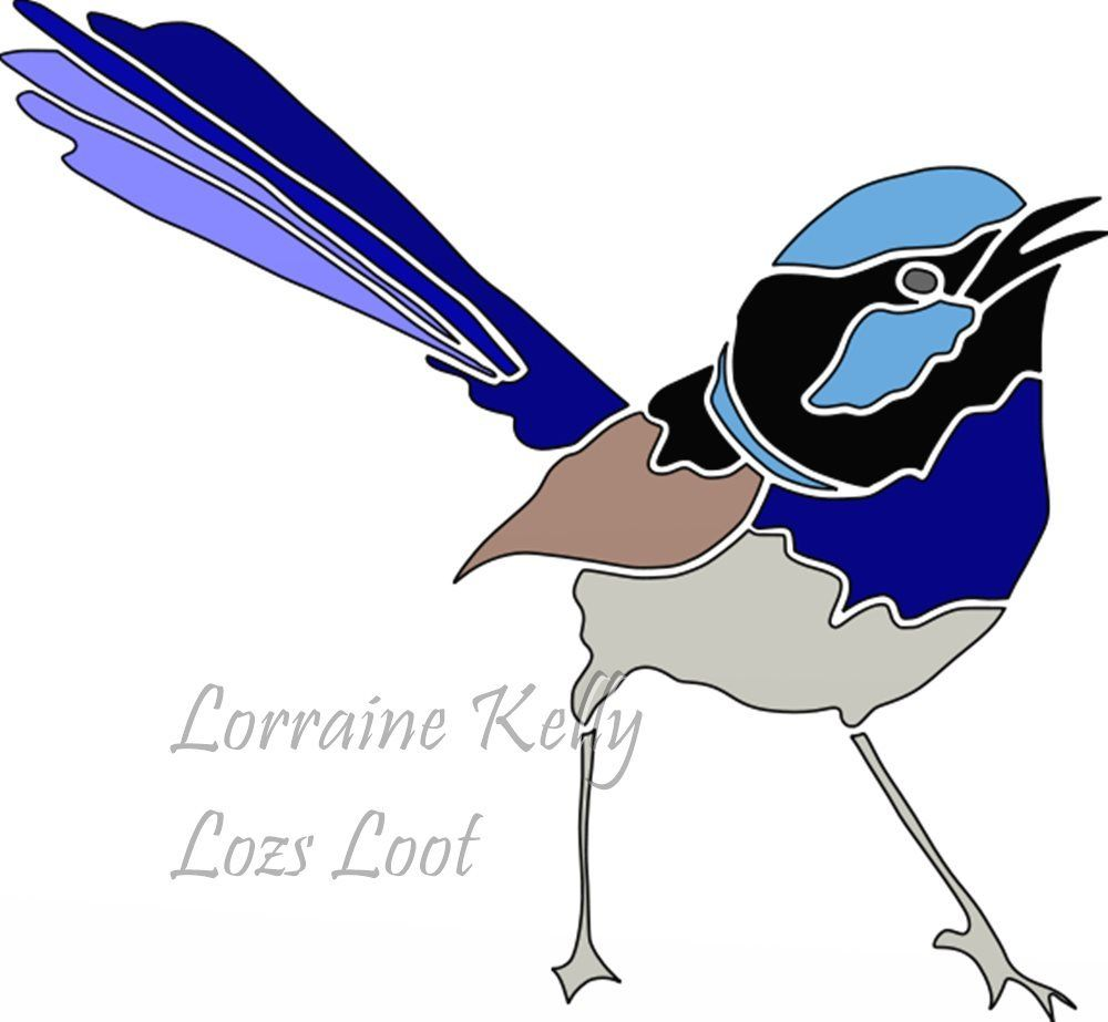 1000x923 Blue Wren Australian Bird Wattle Scan N Cut Fcm Png Svg Files