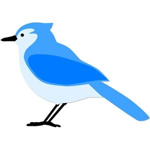300x300 Bluejay Silhouette Design, Silhouettes And Silhouette Files