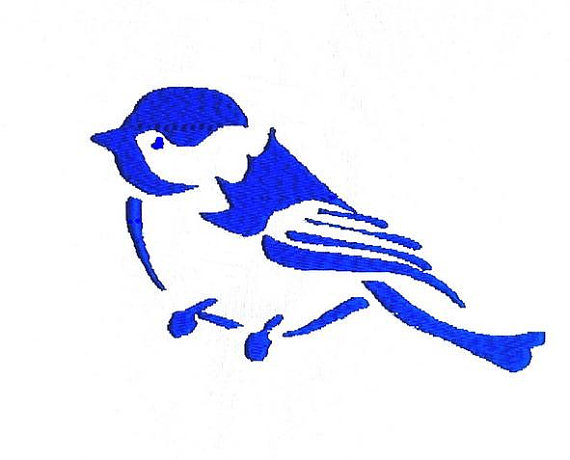570x460 Chickadee Bird Silhouette Embroidery Design From Broderiecreative