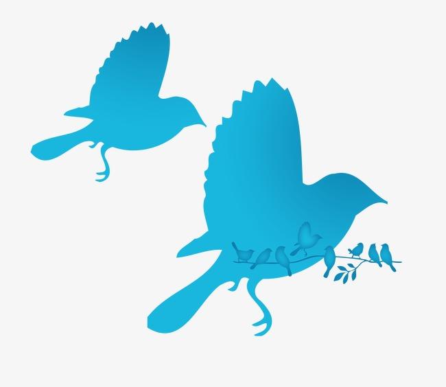 650x564 Blue Bird Silhouette, Blue Jays, Bird Silhouette, Creative Png
