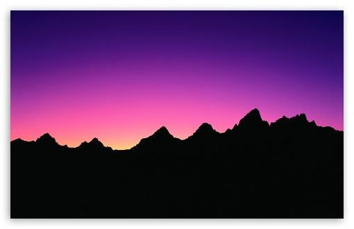 510x330 Dawn Silhouette Of The Mountains Near Ruatha Hold, As Seen By