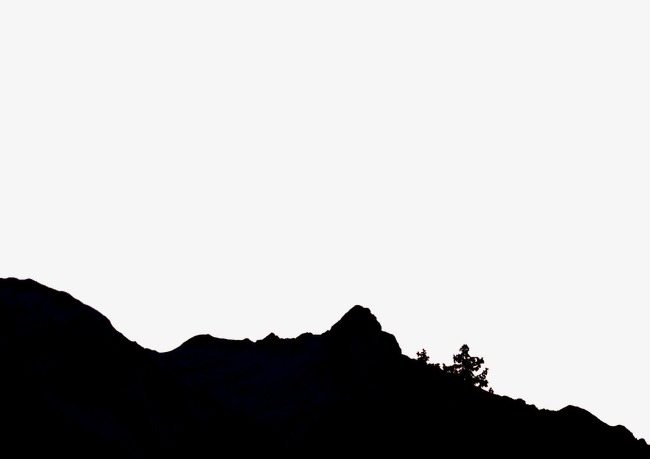 650x459 Mountain Silhouette, Black, Tree, Ridge Png Image And Clipart