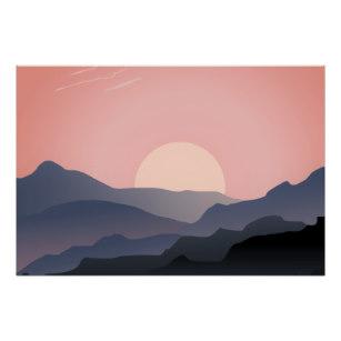 307x307 Mountain Silhouette Posters Zazzle