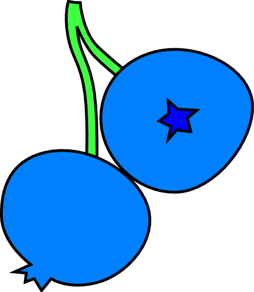 522x600 Image Of Blueberry Clipart