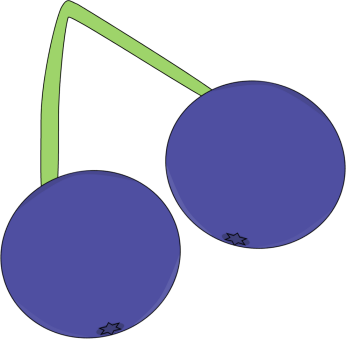 346x339 Image Of Blueberry Clipart