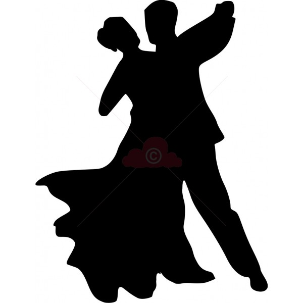 600x600 Luxurious And Splendid Clipart Dancers Silhouette