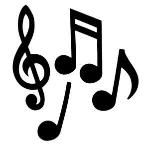 293x293 Musical Notes Silhouette Century Novelty
