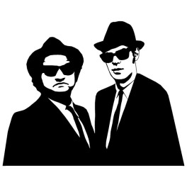 264x264 Sticker Mural Blues Brothers