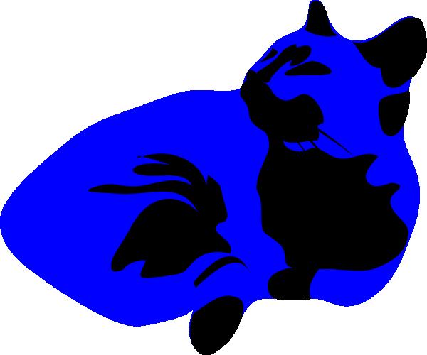 600x500 Cool Cat Blues Clip Art