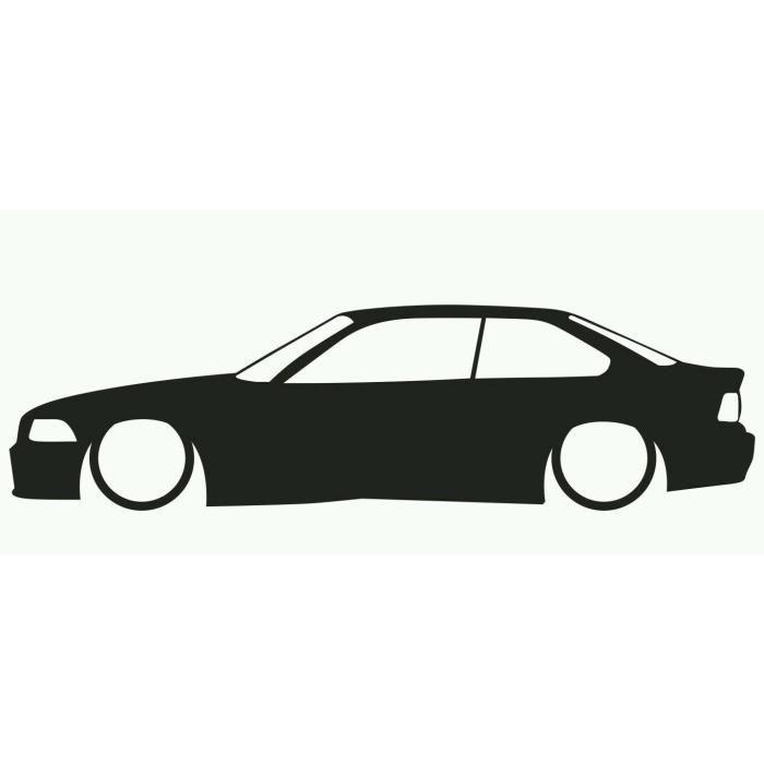 700x700 Bmw E36 Silhouette Sticker Autocollant Tuning Deco Voiture Moto