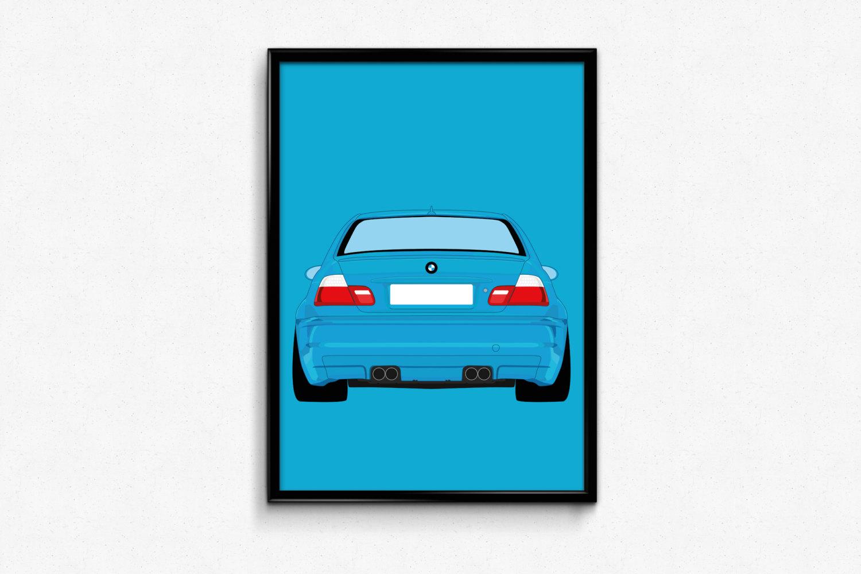 1500x1000 Bmw E46 M3 A3 Print