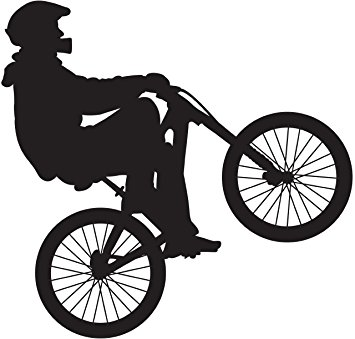 355x339 Bmx Silhouette I Wall Decal Cutout 23x24 Home Amp Kitchen