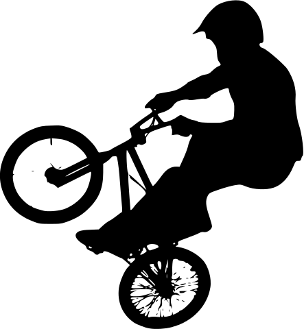 443x480 Filebmx Rider Silhouette.svg