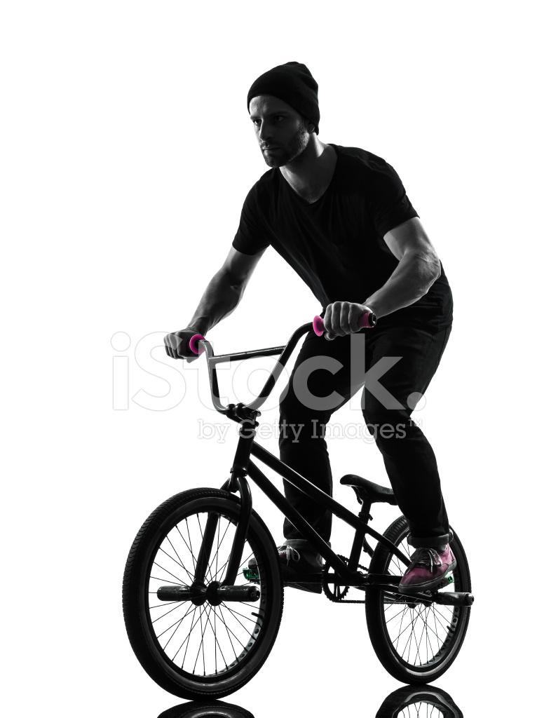 766x1024 Man Bmx Acrobatic Figure Silhouette Stock Photos