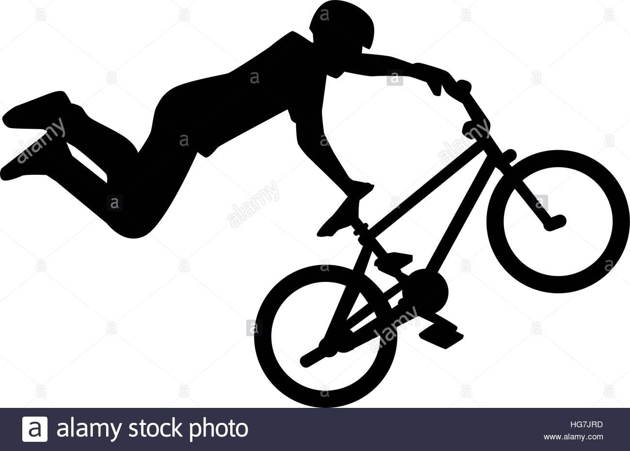 1300x931 Silhouette Of Bmx Rider Stunt Stock Vector Art Amp Illustration