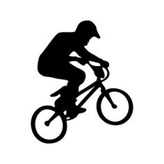 236x236 Skater Wall Decal Bmx, Silhouettes And Stenciling