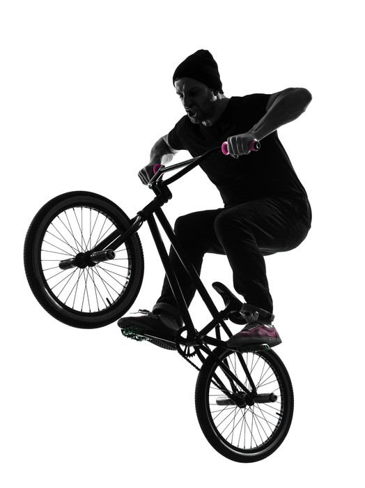 524x700 Man Bmx Acrobatic Figure Silhouette Wall Mural We Live
