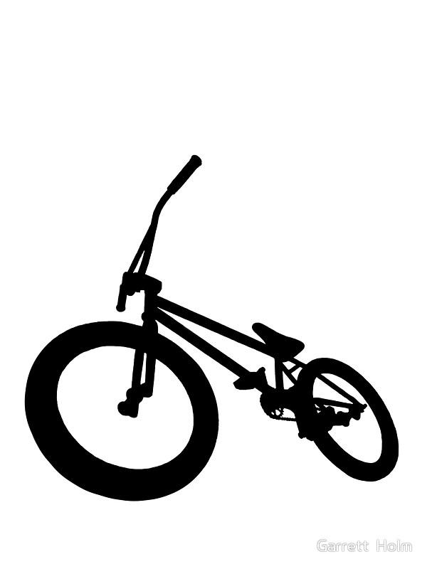 600x800 Bmx Bike Silhouette Black Stickers By Garrett Holm Redbubble