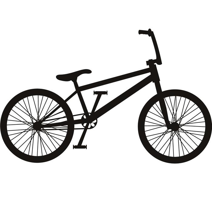 700x700 Bmx Bike Silhouette Wall Sticker Cycling Sports Wall Decal Boys