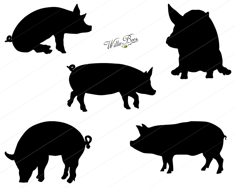 3000x2400 Pig Svg, Piglets Svg, Oink, Genus Sus, Fat Pig, Warthog, Hoofed
