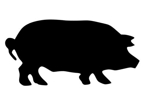 502x349 Pig Silhouette Mascot Decal Visions On Vinyl