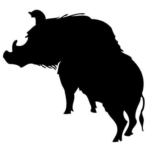 499x480 Wild Hog Silhouette 1 Decal Sticker