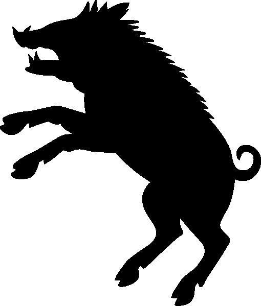 510x599 Boar Silhouette Clip Art