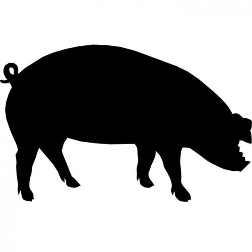 500x500 Show Hog Silhouette Clipart