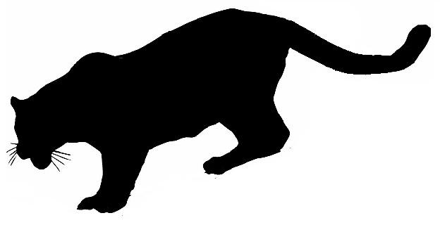 624x320 Pics For Gt Running Jaguar Silhouette Art Silhouette