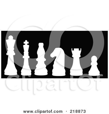 450x470 Royalty Free (Rf) Clipart Illustration Of A Line Up Of Chess