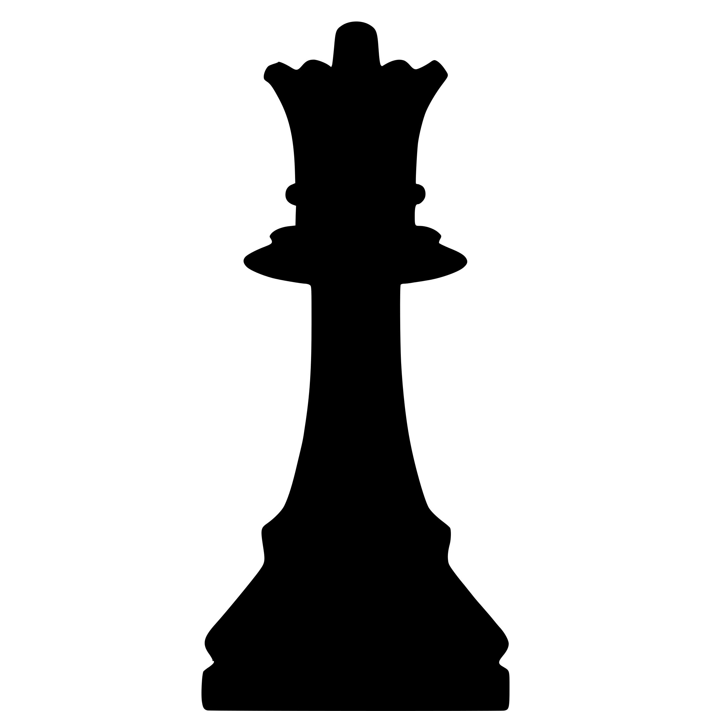 2400x2400 Silhouette Chess Piece Remix Queen Dama Icons Png