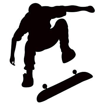 355x355 Skateboarding Wall Decal Sticker 4