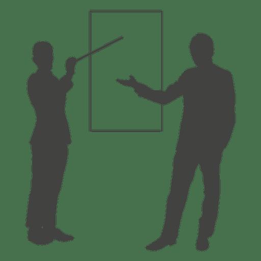 512x512 Businessmen Presentation Board Silhouette