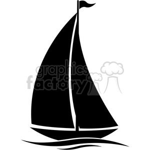 300x300 Sailboat Silhouette In Water With Flag Lake House Ideas